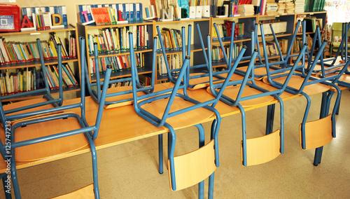 Valokuva  Aula de una escuela pública en vacaciones