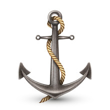 Realistic Anchor With Rope