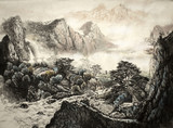 Chiński górski krajobraz - 125752010