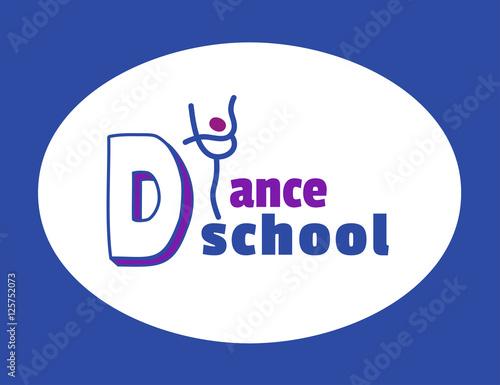 dance icon concept ballet school studio logo design template
