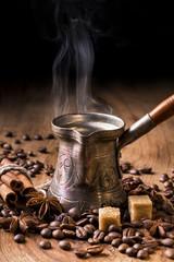 caffè turco fumante