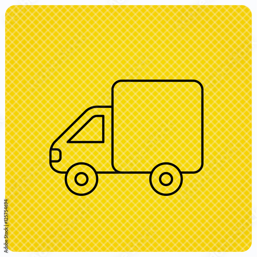 Delivery Truck Icon Transportation Car Sign Logistic