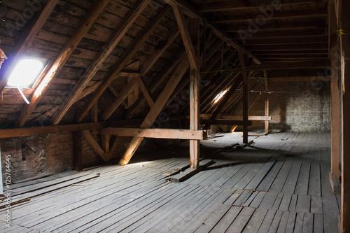 Dach Dachboden Dachgeschoss Ausbau Buy This Stock Photo And