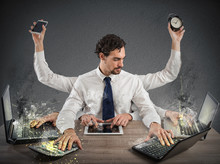 Overworked Businessman