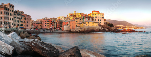 Photographie  Sunset in Boccadasse panorame image