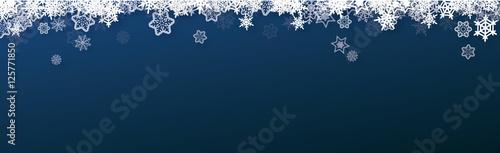 banner snow christmas - vector ( snowflakes , xmas , new year ) © Wojciech Rochowicz