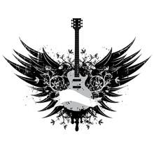 Guitar Wings Insignia..America...