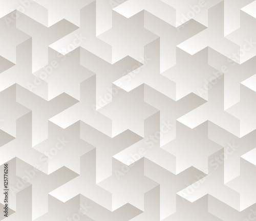 Vector Seamless Black And White Gradient Geometric Star Triangle Shape Tessellation Subtle Pattern