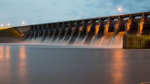 Keystone Dam At Twighlight