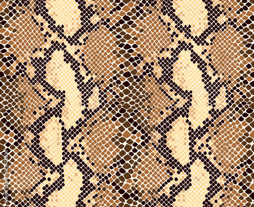 fototapeta na ścianę Snakeskin animal print seamless vector pattern.