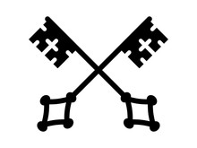 Crossed Keys Of Heaven Flat Icon For Apps And Websites