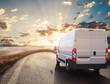 Leinwandbild Motiv Transport truck. 3D Rendering