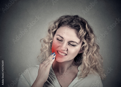 woman with sensitive tooth ache crown problem Canvas-taulu