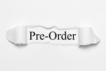 Pre -Order On White Torn Paper