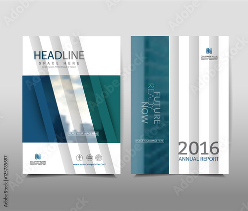 Annual Report On Background Brochure Template Layout Cover Design