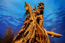 Thai Handicraft Mermaid Sculpture Decoration