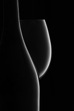 Bottle And Glass Of White Wine...