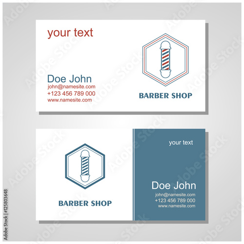 Hair salon barber shop design business cards template set buy hair salon barber shop design business cards template set colourmoves