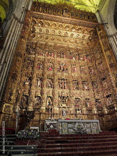 Pierre Dancart's Golden Altarpiece, Sevilla Cathedral Canvas Print