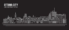 Cityscape Building Line Art Ve...
