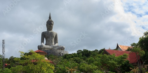 Buddha statue on the mountains of Thailand. Canvas Print