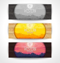 Set Of Creative Banners With W...