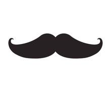 Man Mustache Icon Over White Background. Gentleman Symbol. Vector Illustration