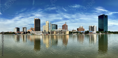 Dramatic panorama of the Toledo skyline