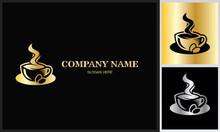 Coffe Hot Gold Logo