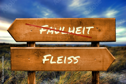 Fotografie, Obraz  Schild 129 - Fleiss