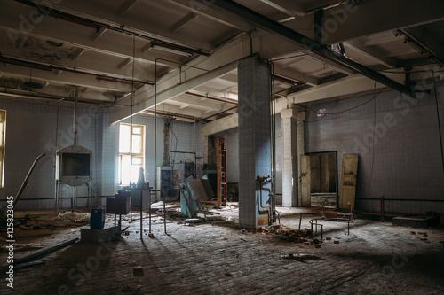Foto op Canvas Oude verlaten gebouwen Abandoned Meat Processing Plant in Alekseyevka, Belgorod region