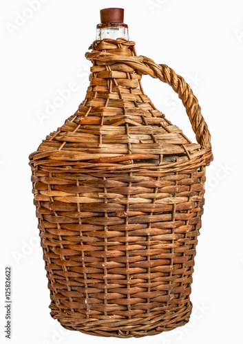 Tela Old demijohn glass wrapped in wicker
