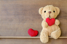 Teddy Bear Holding A Heart-sha...
