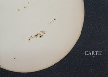 Sunspots And Earth Comparative