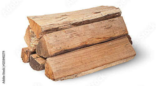 Cuadros en Lienzo Stack of firewood rotated