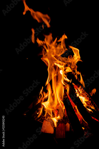 Poster Fire / Flame Fire at night
