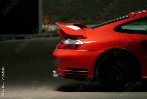 Luxus Auto Sportwagen, Rennauto für die Straße Canvas Print