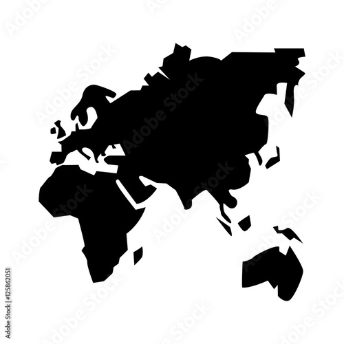 Keuken foto achterwand Wereldkaart Continents of planet icon. Earth world map and cartography theme. Isolated design. Vector illustration