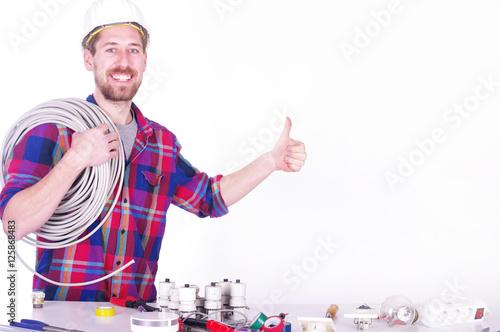 Elektriker bei der Arbeit Wallpaper Mural