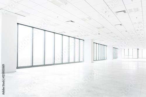 Staande foto Industrial geb. white empty room