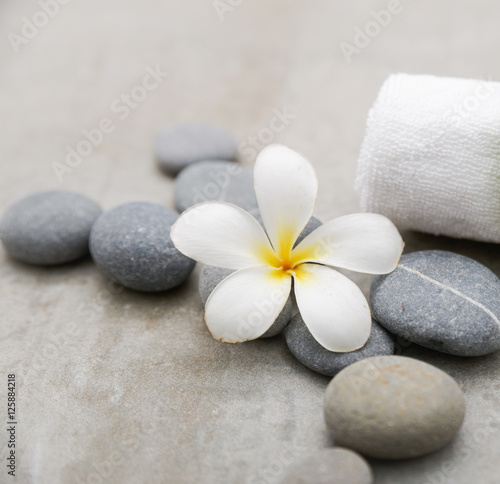 Foto op Canvas Spa spa theme objects on grey background.