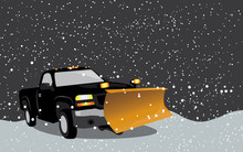 Black Pick Up Truck With Snow ...
