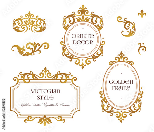 Foto  Vector set frames, vignette for design template.
