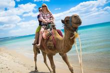 Kamelritt Am Strand, Tunesien