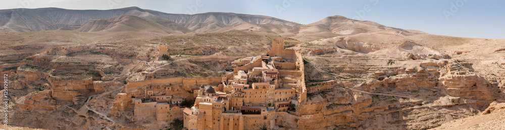 Fototapety, obrazy: Large panoramic view of the The Holy Lavra of Saint Sabbas the S