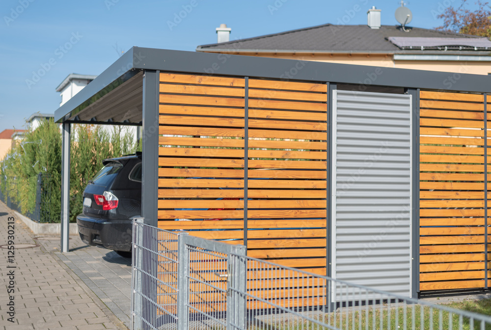moderner aluminium carport poster plakat 31 gratis bei europosters