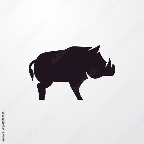Canvas Print boar icon illustration