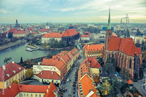 Obraz Miasto Wrocław - panorama - fototapety do salonu