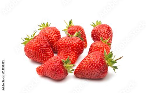 ripe strawberries isolated