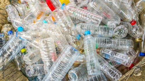 Fotografia, Obraz  Many plastic bottle , Garbage cans